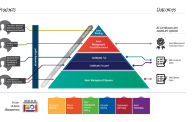 Asset Management Courses Hierarchy showing the routes to chartership and experience levels required